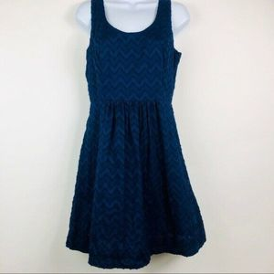 Womens Vineyard Vines Navy Lace Dress Fit flare 4